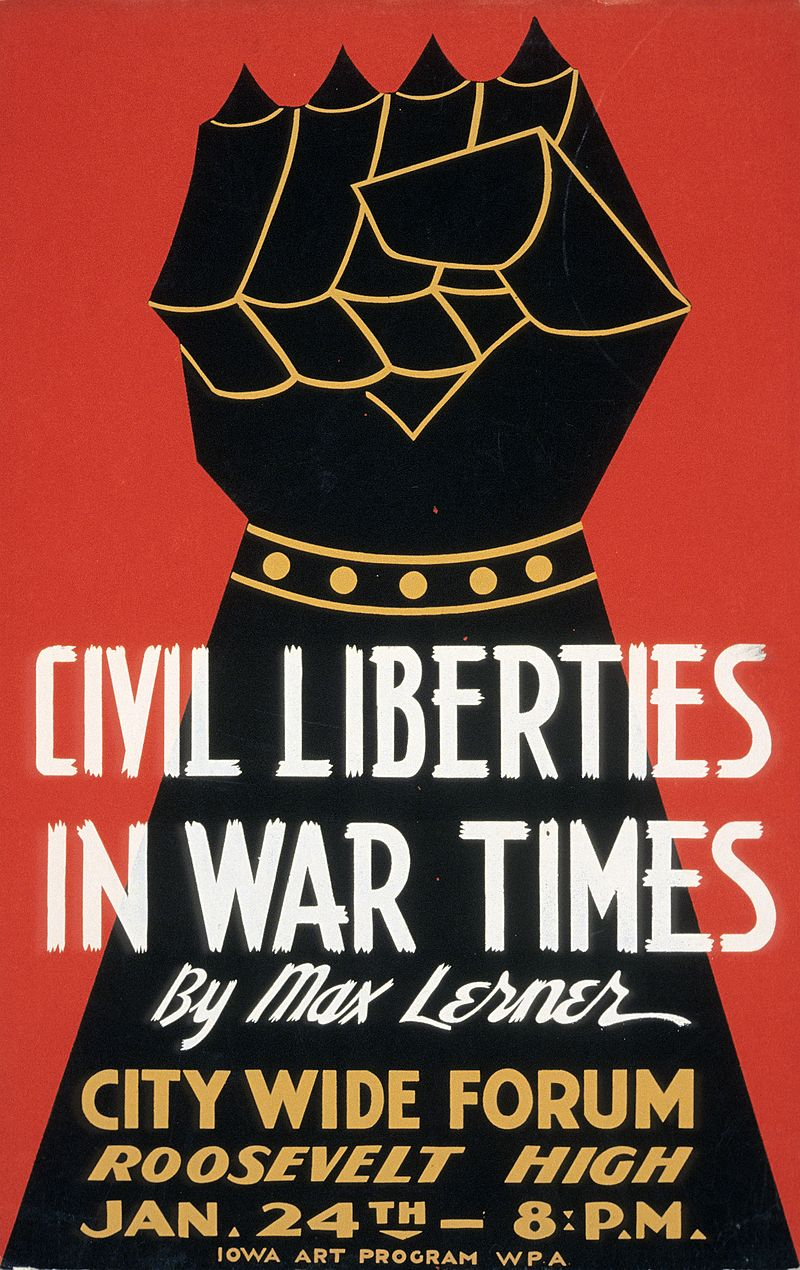 800px-Civil Liberties in War Times by Max Lerner 1940