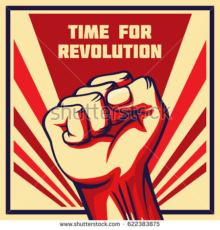 stock-vector-vintage-style-vector-revolution-poster-raised-fist-of-the-striking-man-worker-etc-622383875